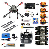 DIY 2.4GHz 4-Aixs RC Drone APM2.8 Flight Controller M7N GPS J630 Carbon Fiber Frame Props with AT9S TX Headless Mode Quadcopter