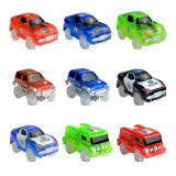 LED Light up Cars for Tracks Electronics Car Toys With Flashing Lights Fancy DIY Toy Cars For Kid Tracks parts Car for Children