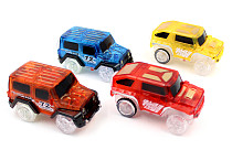 1x LED Cars for Magic Tracks Electronics Car Toys With Flashing Lights Racing Cars Toys for Children Gift