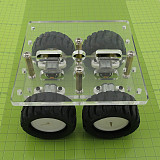 Mini DIY N20 Smart Car Chassis Transparency Acrylic 4WD Two Layer RC Robot DIY Kit N20 Motor Wheels 90*90mm