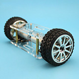 JMT Acrylic Plate Car Chassis Frame Self-balancing Mini Two-drive 2 Wheels 2WD DIY Robot Kit 176*65mm Technology Invention Toys