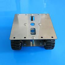 JMT Stainless Steel Metal Frame 4WD Robot Car Chassis Platform 90*90mm with 4x N20 Gear Motor DIY Intelligent Vehicle Tank Model