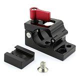 25mm Rod Clamp Holder Adapter for DJI Ronin M MX Monitor Bracket+1/4 Hot Shoe Adapter for 25-27mm Aluminum Tube Bracket