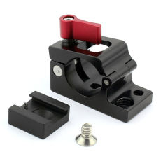25mm Rod Clamp Holder Adapter for DJI Ronin M MX Monitor Bracket+1/4 Hot Shoe Adapter for 25-27mm Aluminum Tube Bracket