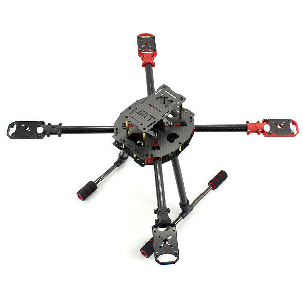 JMT J630 Carbon Fiber 4-axis Foldable Rack Frame Kit for DIY Quadcopter RC Drone