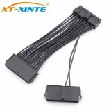 24Pin ATX Dual PSU Power Supply Extension Cable 30cm/15cm Adaptor Connector for Computer Mining Starting Line 24Pin 20+4pin