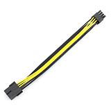 1x PCI-E PCIE PCI Express 8Pin 8P to 2 Port Dual 8Pin 6+2P GPU Graphics Power Cable Cord 20cm
