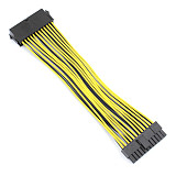 1x 24P 20+4 Pin Power Supply Motherboard Adapter Cable 18AWG 20CM for BTC RIG Extended Miner Mining Wire Extension Cord