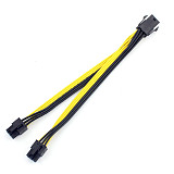 High Quality UL 18AWG PCIe PCI-E Dual 6pin Male to 6pin Male PCI Express Video Card Power Supply Adapter Cable 20CM