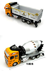 1:48 Alloy Pull Back Engineer Truck Childrens Kids Educational Engineering Dump Truck Simulation Toys Car Gift 22*10*6.5cm