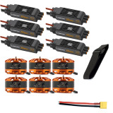 DIY 6-axis Aircraft Hexcopter Motor Combo 6pcs 3508 580kv Motor + 6pcs Hobbywing XRotor Pro 40A ESC  + XT60 Connector+Fastening Tape