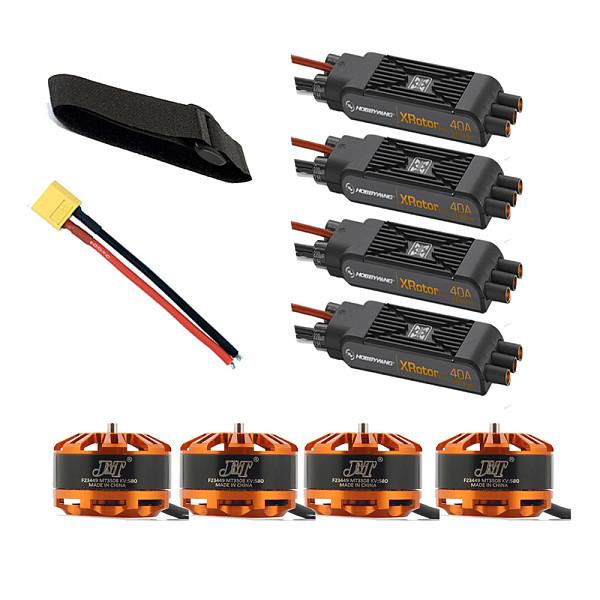 DIY Quadcopter Motor Combo 4pcs 3508 580kv Motor + 4pcs Hobbywing XRotor Pro 40A ESC  + XT60 Connector+Fastening Tape