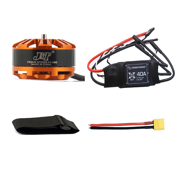 Multi-rotor DIY Drone Motor Combo 3508 580kv Motor + Hobbywing XRotor 40A ESC + XT60 Connector+Fastening Tape