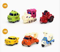 3Pcs/Set 1:64 Mini Cartoon Model Diecast Metal Alloy Cute Car Toys Children Racing Cars Kids Toy for girl Boy Gifts