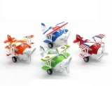 1:72 Alloy Glider Model Toy Light & Sound Carton Plane Airplane Diecast Pull Back & Return Children's Toys 12*11*7cm