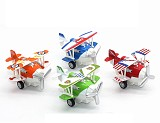 1:72 Alloy Glider Model Toy Light & Sound Carton Plane Airplane Diecast Pull Back & Return Children's Toys 12*11*7cm