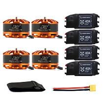 DIY Quadcopter Drone Motor Combo 4pcs 3508 580kv Motor + 4pcs Hobbywing XRotor 40A ESC + XT60 Connector+Fastening Tape