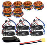 DIY 6-axis Aircraft Hexcopter Motor Combo 6pcs 3508 700kv Motor + 6pcs HOBBYWING Platinum 30A ESC + XT60 Connector+Fastening Tape