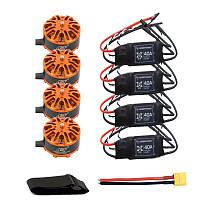 DIY Quadcopter Drone Motor Combo 4pcs 3508 380kv Motor + 4pcs Hobbywing XRotor 40A ESC + XT60 Connector+Fastening Tape