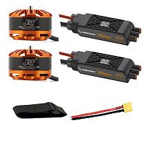 Multi-rotor DIY Drone Motor Combo 2pcs 3508 580kv Motor + 2pcs Hobbywing XRotor Pro 40A ESC  + XT60 Connector+Fastening Tape