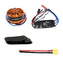 Multi-rotor DIY Drone Motor Combo 3508 700kv Motor + HOBBYWING Platinum 30A ESC + XT60 Connector Cable+Fastening Tape