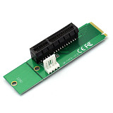 PCI-E 4X Female to NGFF M.2 M Male Adapter Key Power Cable with Converter Card