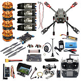 Full Set FPV DIY 2.4GHz 4-Aixs RC Drone ARF APM2.8 Flight Controller M7N GPS J630 Carbon Fiber Frame Props with AT9S TX Quadcopter