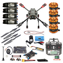 Full Set DIY 2.4GHz 4-Aixs Quadcopter RC Drone 630mm Frame Kit APM2.8 Flight Controller with FS-i6X TX RX Brushless Motor ESC Altitude Hold