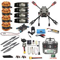 Full Set DIY 2.4GHz 4-Aixs Quadcopter RC Drone ARF 630mm Frame Kit Radiolink MINI PIX+GPS FS-i6X Brushless Motor ESC Altitude Hold