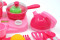 17Pcs Pink Children Light & Music Kitchen Toys for Girls Pretend Play Game Cooking Food Dishes Cookware Simulation Kitchen Toys