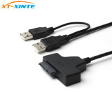 7+6pin SATA to USB 2.0 Adapter Cable External Power Cable LED Indicator OTG for Laptop 2.5  CD-ROM DVD-ROM HDD SSD Converter