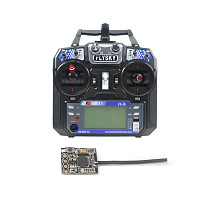 Flysky FS-i6 6CH 2.4G AFHDS 2A LCD Transmitter Radio System w/ FS-RX2A Pro Receiver for Mini FPV Racing Drone RC Quadcopter