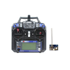 Flysky FS-i6 6CH 2.4G AFHDS 2A LCD Transmitter Radio System w/  FS-X6B Receiver for Mini FPV Racing Drone RC Quadcopter