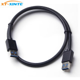 USB3.0 Extension Cable High Speed Male to Male Cable 0.5M Extender USB 3.0 Transfer Sync Wire Cord for Radiator Hard Disk Miner