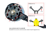 LDARC Kingkong 1304 6200KV Mini Brushless Motor 2-3S PK1106 Motor Double Mounting Hole for FPV Racing Drone Quadcopter RC Racer