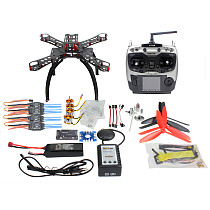RC Fiberglass Frame Multicopter Full Kit DIY GPS Drone FPV Radiolink AT9 Transmitter APM2.8 1400KV Motor 30A ESC