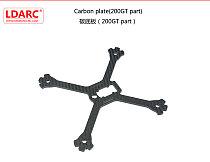 LDARC Kingkong 200mm Carbon Fiber Bottom Plate for 200GT FPV Racing Drone RC Quadcopter Racer