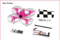 Kingkong LDARC Tiny 7X RTF Mini FPV Racing Drone Quadcopter 75mm Frame 820 Brush Motor 450mAh 3.8V 50C Lipo Battery