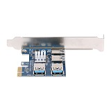 PCIe 1 to 4 PCI express 16X slots Riser Card PCI-E 1X to External 4 PCI-e Slot Adapter PCIe Multiplier Card for Bitcoin Miner