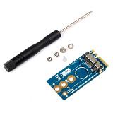 Mini PCI-E to NGFF M.2 M KEY BCM94360CS2 BCM943224PCIEBT2 Wireless Adapter Card Converter for Mac OS Hackintosh A/E