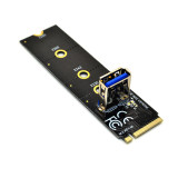 M.2 NGFF to PCI-E X16 Slot Transfer Card Mining Riser Extension Line Extender Adapter w Molex SATA 6Pin 4Pin Cable for BTC Miner