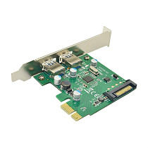2 / 4 Port SuperSpeed USB 3.0 PCI-E PCI E Express Riser Card Expansion Adapter USB 3.0 HUB with SATA / 4PIN Power Connector
