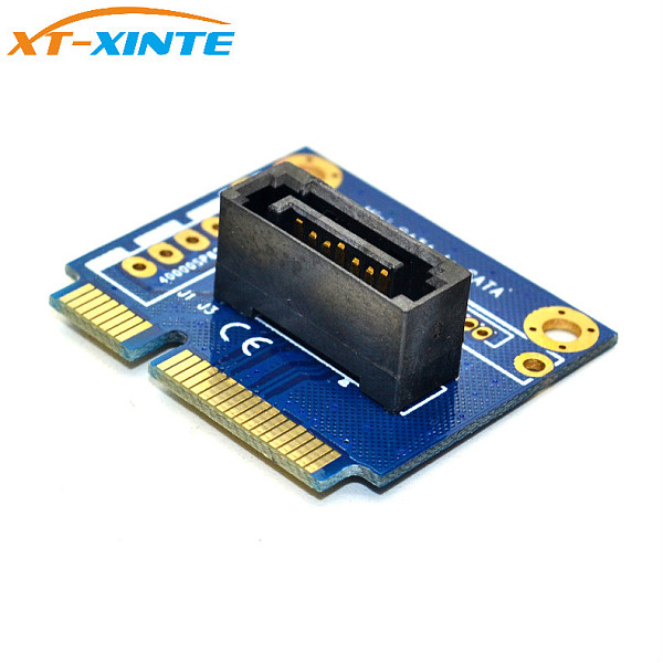 XT-XINTE mSATA to SATA Converter Card Mini SATA to 7Pin PCI-e Extension Adapter board Half-size for 2.5  3.5  HDD SSD Hard Drive