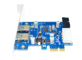 USB 3.0 PCIe Expansion Card External 2 Ports USB3.0 + 2 Internal 19Pin Header 4Pin IDE Power Connector for PCI-E x1 x4 x8 x16
