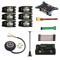 FEICHAO 6-axis RC Helicopter Electronic Parts APM 2.8 Multicopter Flight Controller 7M GPS Module with Compass Shock Absorber 30A ESC