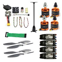 FEICHAO Electronic Kits Radiolink Mini PIX M8N GPS Flight Control 920KV Brushless Motor 30A ESC 10x4.5 Propeller for 4-axis RC Helicopter