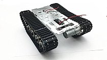 FEICHAO Smart Robot Car Chassis Kit Aluminum Alloy Big Tank Chassis with Motors for DIY Remote Control Robot Car Toys