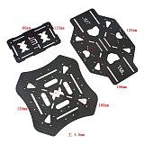 JMT X4 460mm 560mm Carbon Fiber Foldable Frame with Non-foldable Landing Skid for RC Helicopter