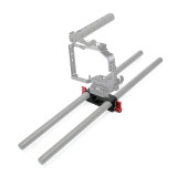 BGNING DLSR Camera Cage Kit 15mm Rod Rig Clamp Double Holes 1/4 3/8 Thread Telephoto Lens Holder Support Rail Photography System