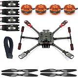 QWinOut DIY X4 560mm Full Carbon Fiber Foldable Frame Kit with Foldable Landing Gear 3508 580KV Powerful Motor 40A ESC 1455 Carbon Fiber Propellers Hobby RC Quadcopter